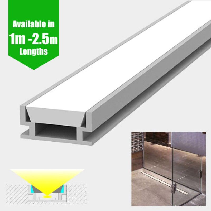 Led Profile Recessed Tile Waterproof For Led Strip Ip65 Aluminium Led Channel C W Diffuser End Caps Mounting Clips Led Strip Led Strip Lighting Phillips Hue