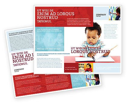 25+ Kindergarten and Daycare Brochure Templates Book \ Magazine - daycare flyer template
