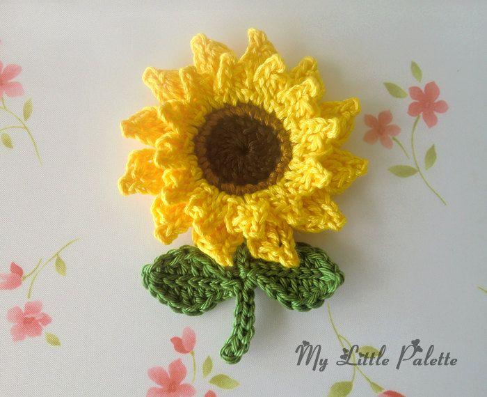 Sunflower - virkattu iso auringonkukka