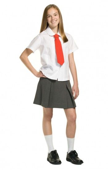 0f06bec406 Grey Pleated Skirt and Basic White Shirt for Hermione Costume   Book ...