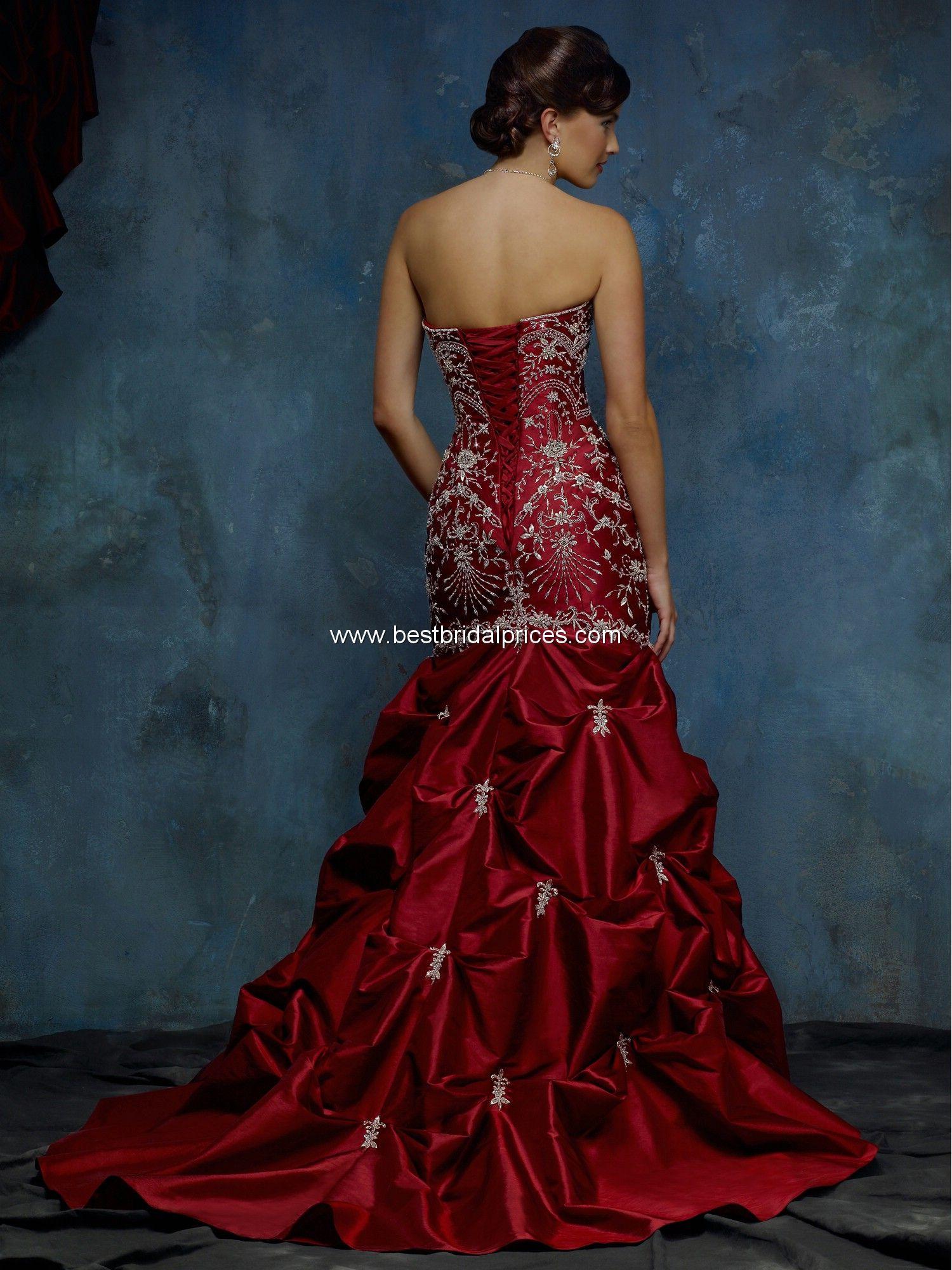 Wild West Wedding Dresses Red Wedding Dress. An