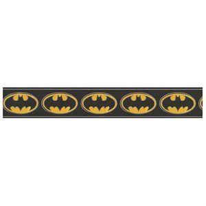 Dc Comics Batman Logo Prepasted Wall Border Roll Black Bat Signal Accent Decor Black Bat Batman Logo Dc Comics Wallpaper