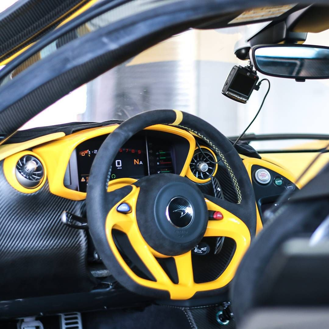 mclaren p1 yellow and black interior carbon fiber auto addiction interiors pinterest. Black Bedroom Furniture Sets. Home Design Ideas