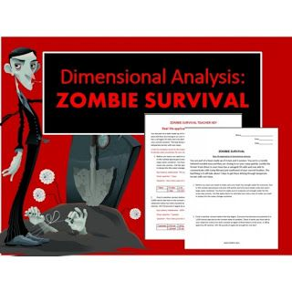 Dimensional Analysis: Zombie Survival for High School   Homeschool ...