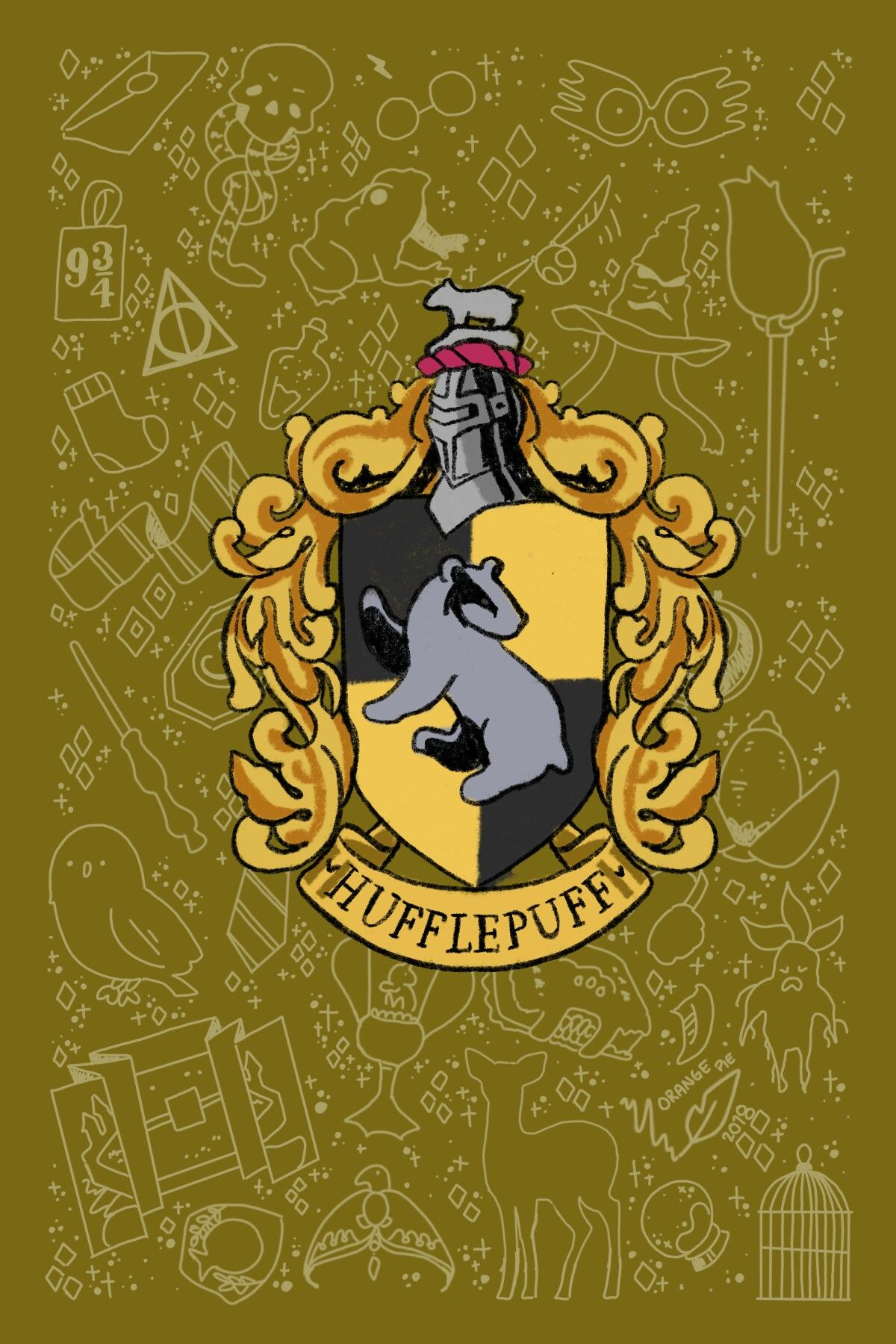 Pin By Elkisiello On Harry Potter Harry Potter Drawings Hufflepuff Wallpaper Harry Potter Wallpaper