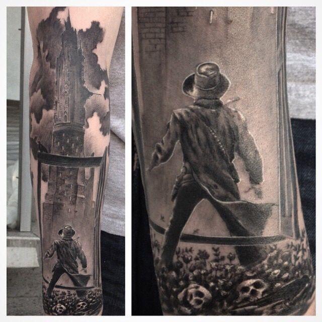 Dark Tower half sleeve - Bob Lewis, Kingston, PA -- Reddit: cereals