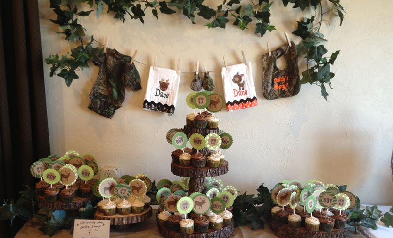 Camouflage Themed Baby Shower Decoration Ideas  Camouflage baby