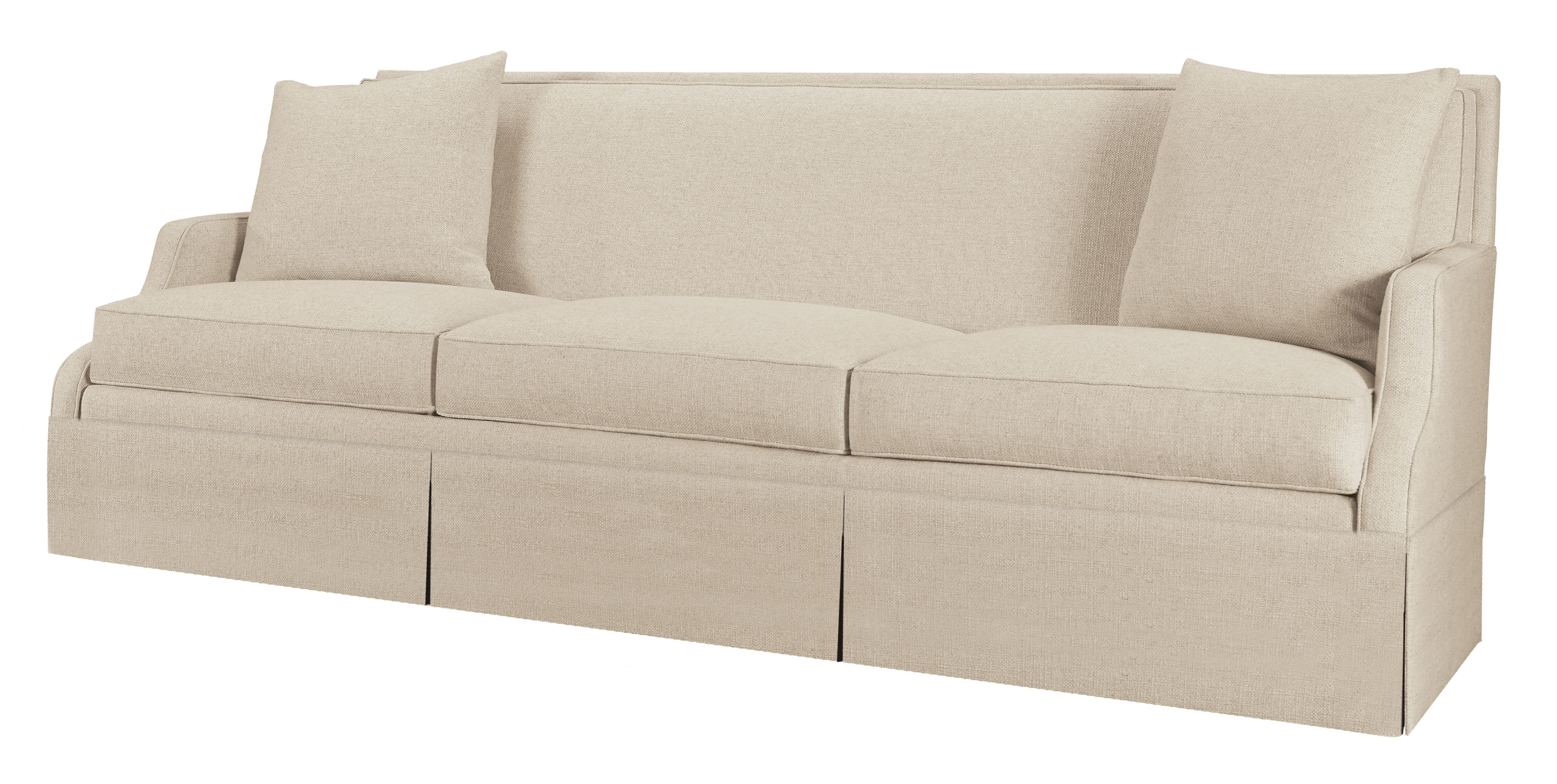 Great sofa shape! This designer asked for a kick pleat