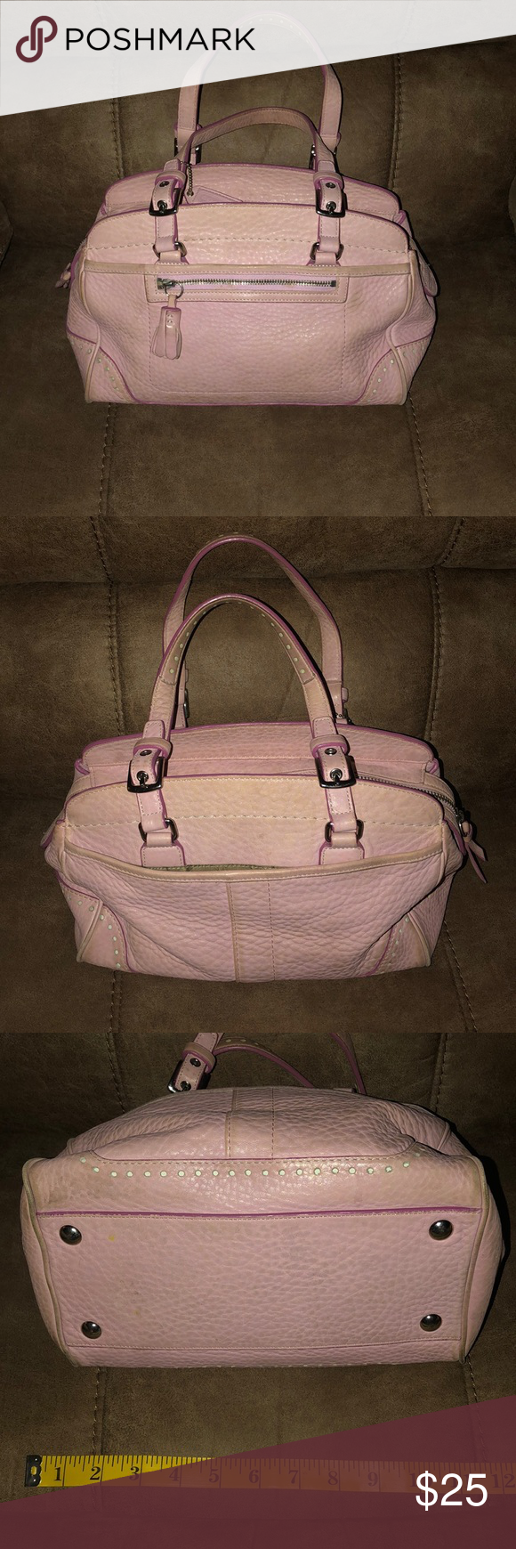 Coach small pink soft leather satchel j04S-5031 Coach small pink soft  leather satchel j04S bc3574f433fa6