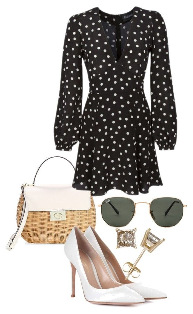 """Untitled #23659"" by florencia95 ❤ liked on Polyvore featuring Kate Spade, Gianvito Rossi and Ray-Ban"