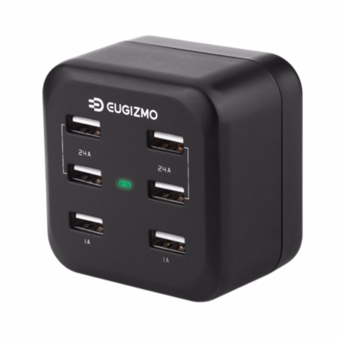 Eugizmo Chargbase Ii Smart 6 Port Usb Power Charger Highlights Smart Power Charger With Auto Voltage Detection6 Port Usb Output To Charge Mobi Usb Charger Port