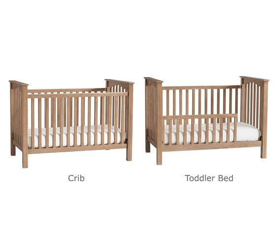Kendall Low Profile Convertible Crib Gray Ups 디자인