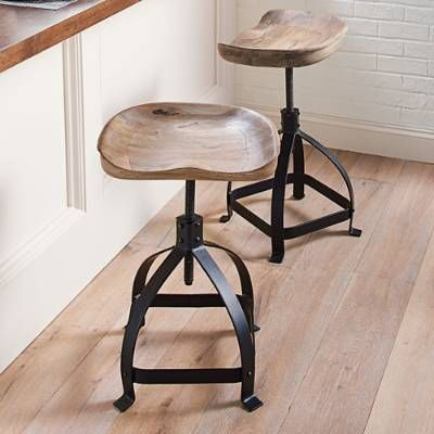 Fresh Wood Tractor Seat Counter Stool