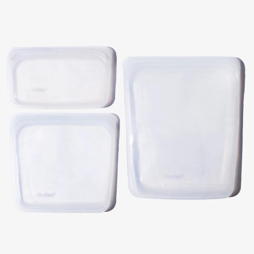 Reusable Silicone Storage Bag Bundle In 2020 Bag Storage Gallon Bag Plastic Storage Bags