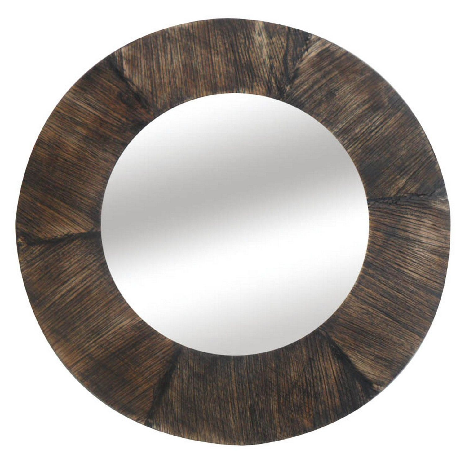 Buy Round Mirror Buy Round Dark Wood Framed Mirror Gallery The Range