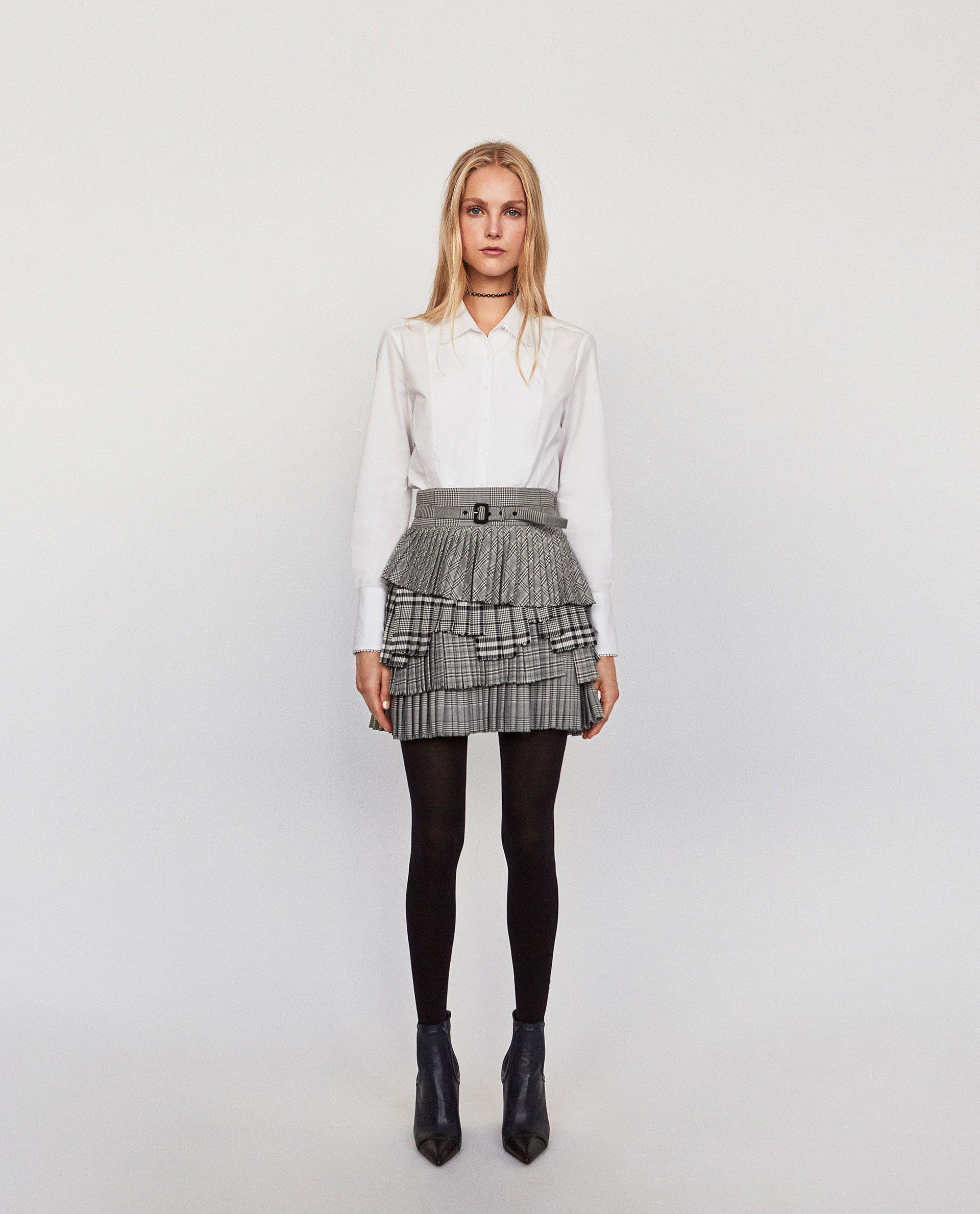 e475f4a62 FALDA PLISADA TABLAS | Style | Faldas plisadas, Camisas peplum y Faldas