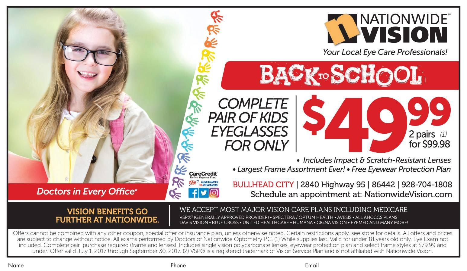 e6cc2ad1a86 Get a complete pair of kids eyeglasses 👓 for ONLY  49.99 at Nationwide  Vision at all 3 locations in Mohave County!  adspay  optical  health   newglasses ...