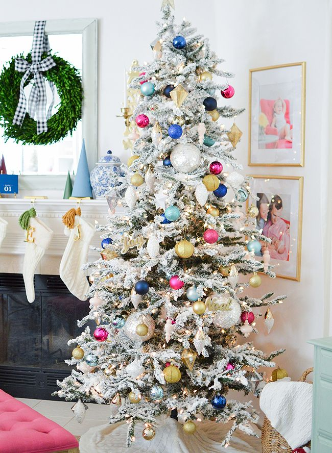 Pink u0026 Blue Holiday Home Tour Bright