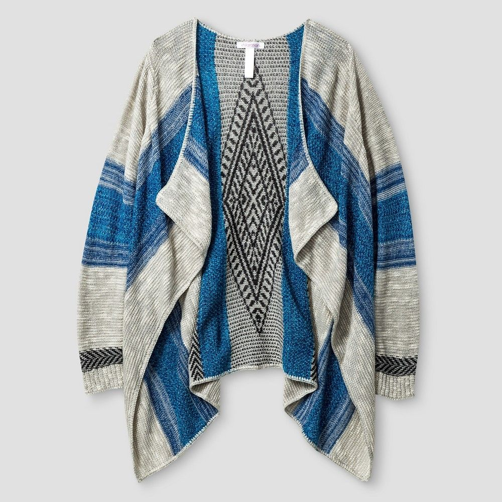 Girls' Waterfall Cardigan Blue XL - Xhilaration, Girl's | Products