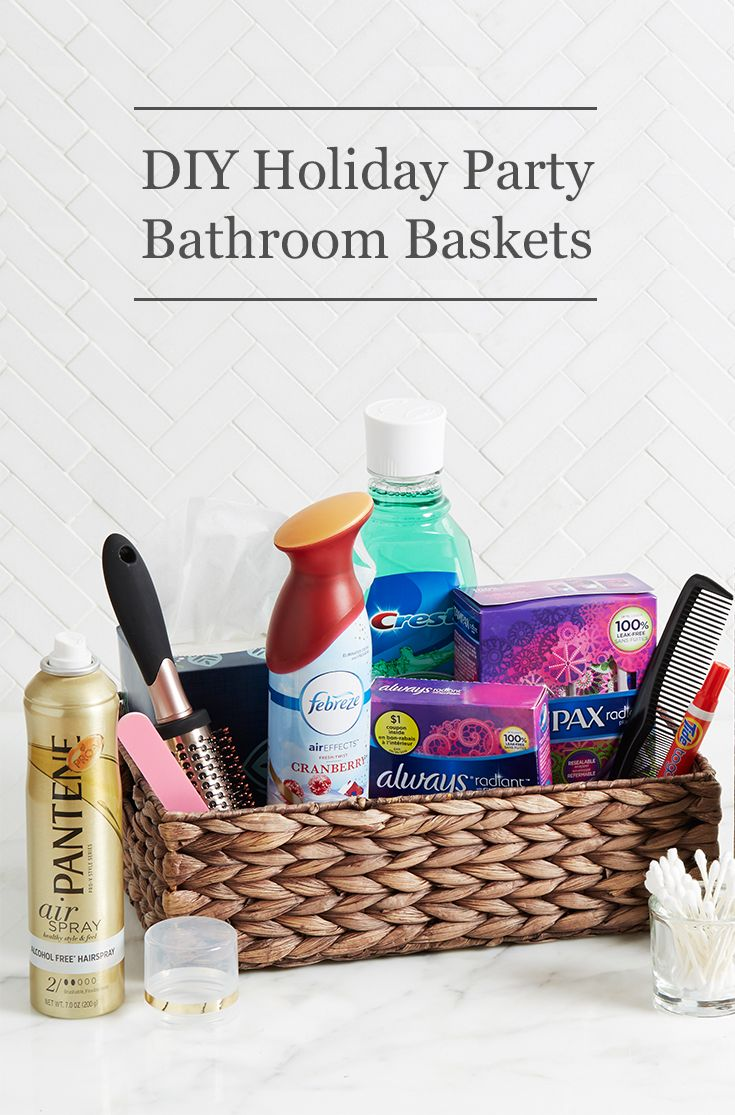 Help holiday party guests feel at home with our DIY bathroom basket ...
