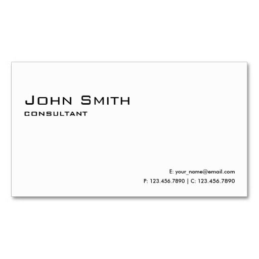 Professional plain white elegant modern simple business card professional plain white elegant modern simple business card templates wajeb Images