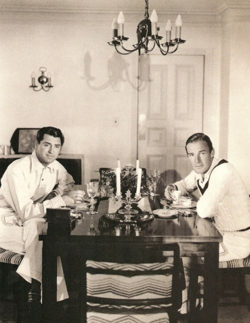 Two eligible gay young bachelors sharing digs in Hollywood…(Cary Grant and  Randolph Scott).