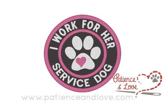 SERVICE DOG WORKING or TRAINING service dog vest patch