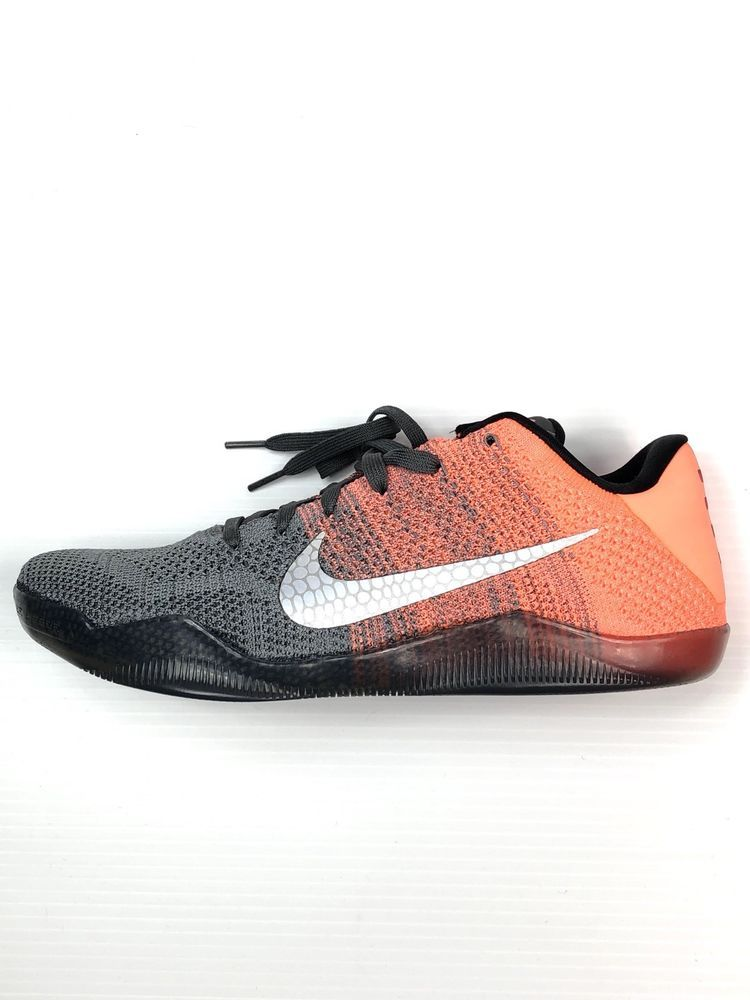 online store a4eb2 4ec6c Nike Zoom Kobe XI 11 Elite Low Easter Shoes Gray Orange 822675-078   eBay