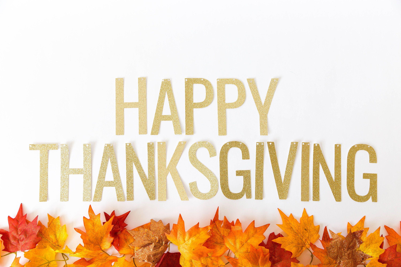 Happy Thanksgiving Banner - Glitter Thanksgiving Banner ...