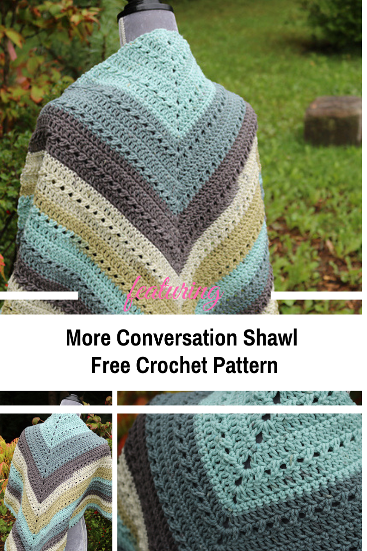Easy Crochet Prayer Shawl With An Easy Repeat Pattern #prayershawls