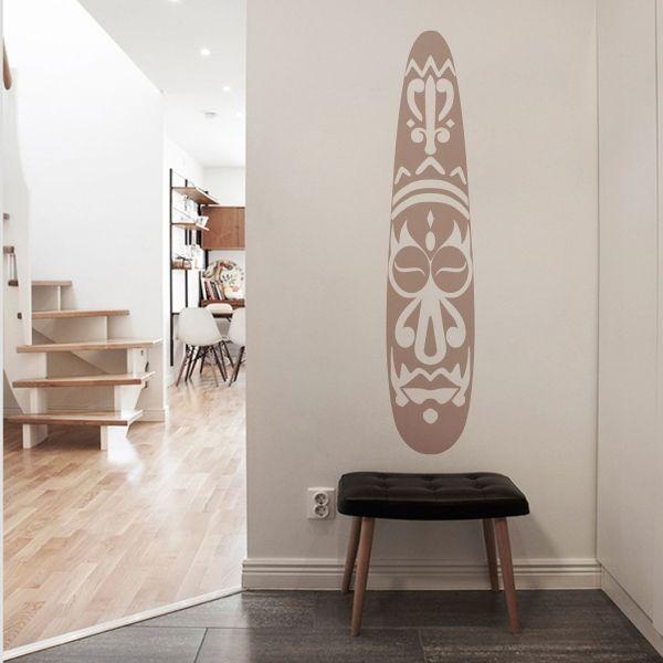 Vinilo decorativo de pared con la imagen de una m scara - Salones con vinilos decorativos ...