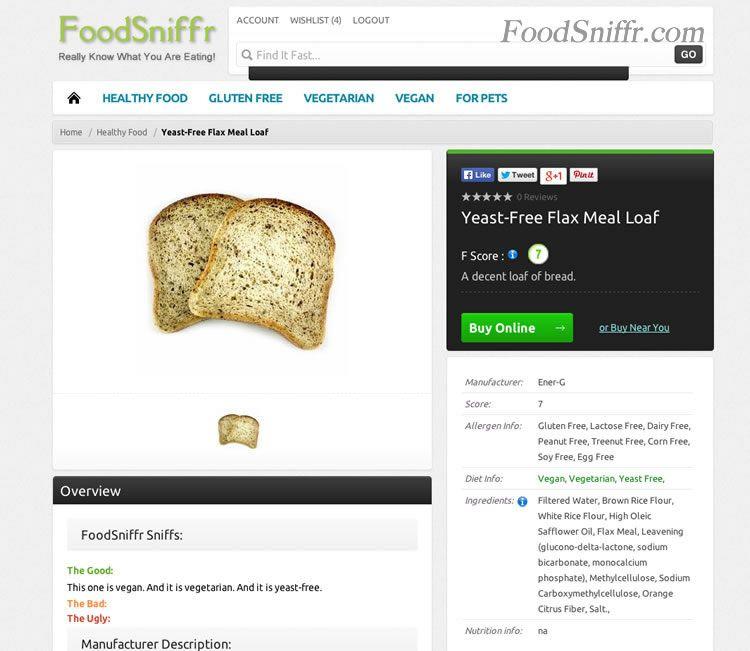 Yeast Free Flax Bread - yeast free, gluten free, vegan, and