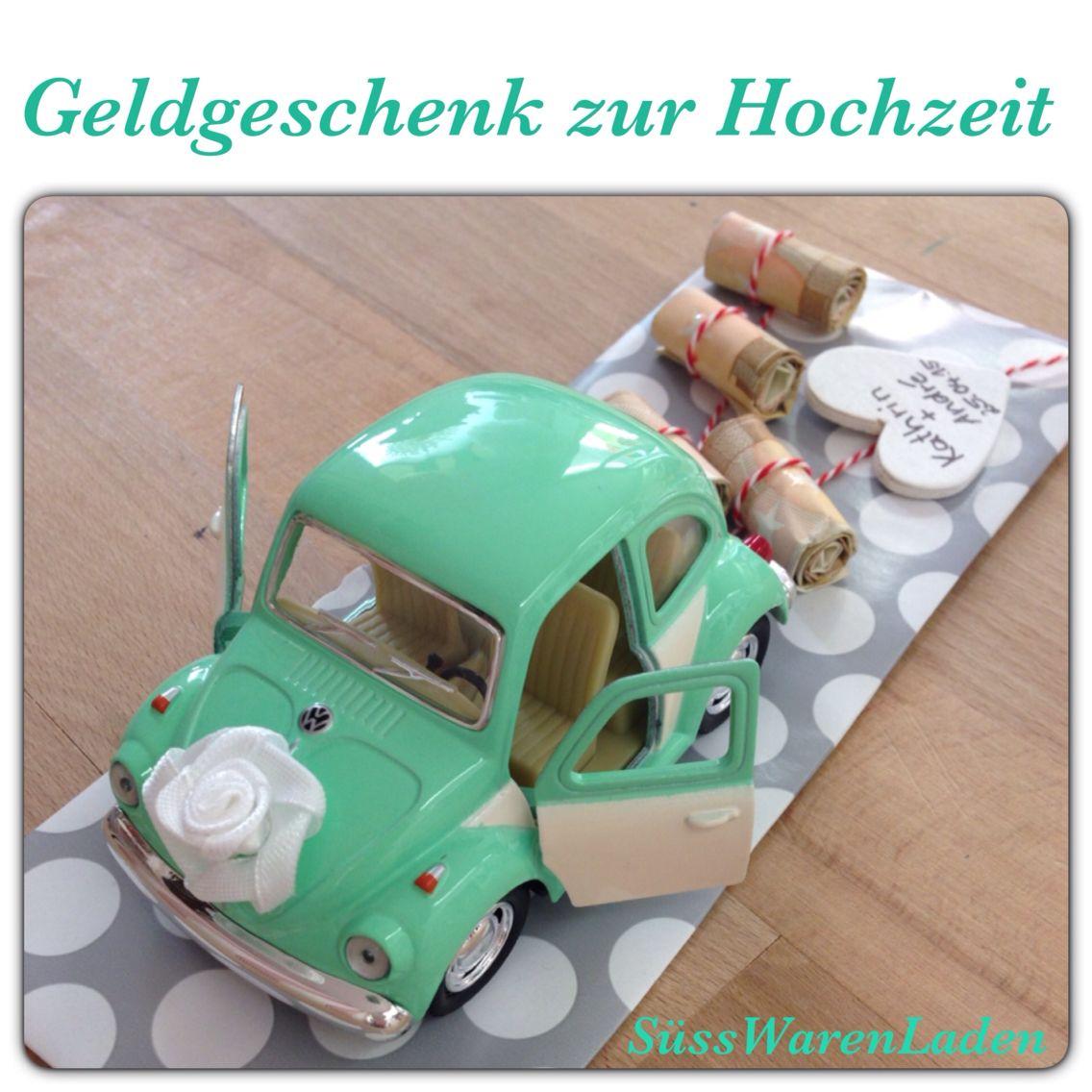 Hochzeitsauto vw käfer gelb geldgeschenk gift wedding and weddings