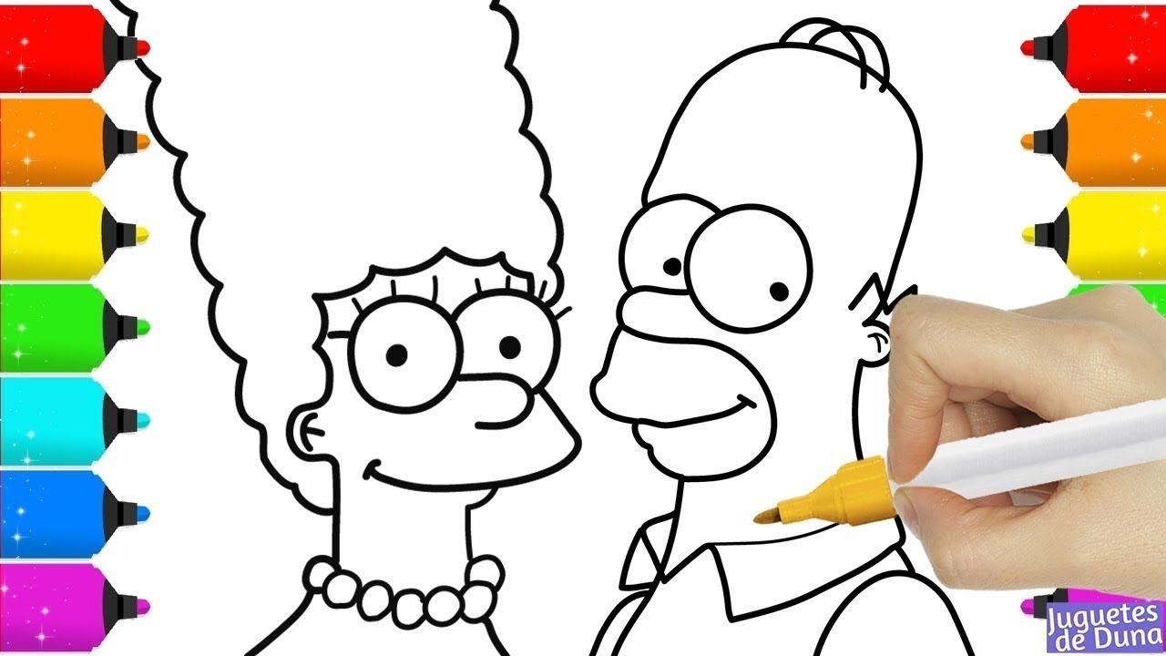 Los Simpson Coloreando A Homer Y Marge Dibujos Para Pintar Y Aprende Dibujos De Colores Dibujos Para Pintar Dibujos