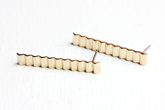 Zigzag Bar Studs by diamentdesigns on Etsy   Jewels   Pinterest ...