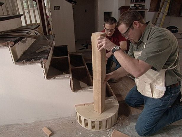 How To Build Staircase Balusters And Newel Posts Repurpose Home Decor Newel Posts
