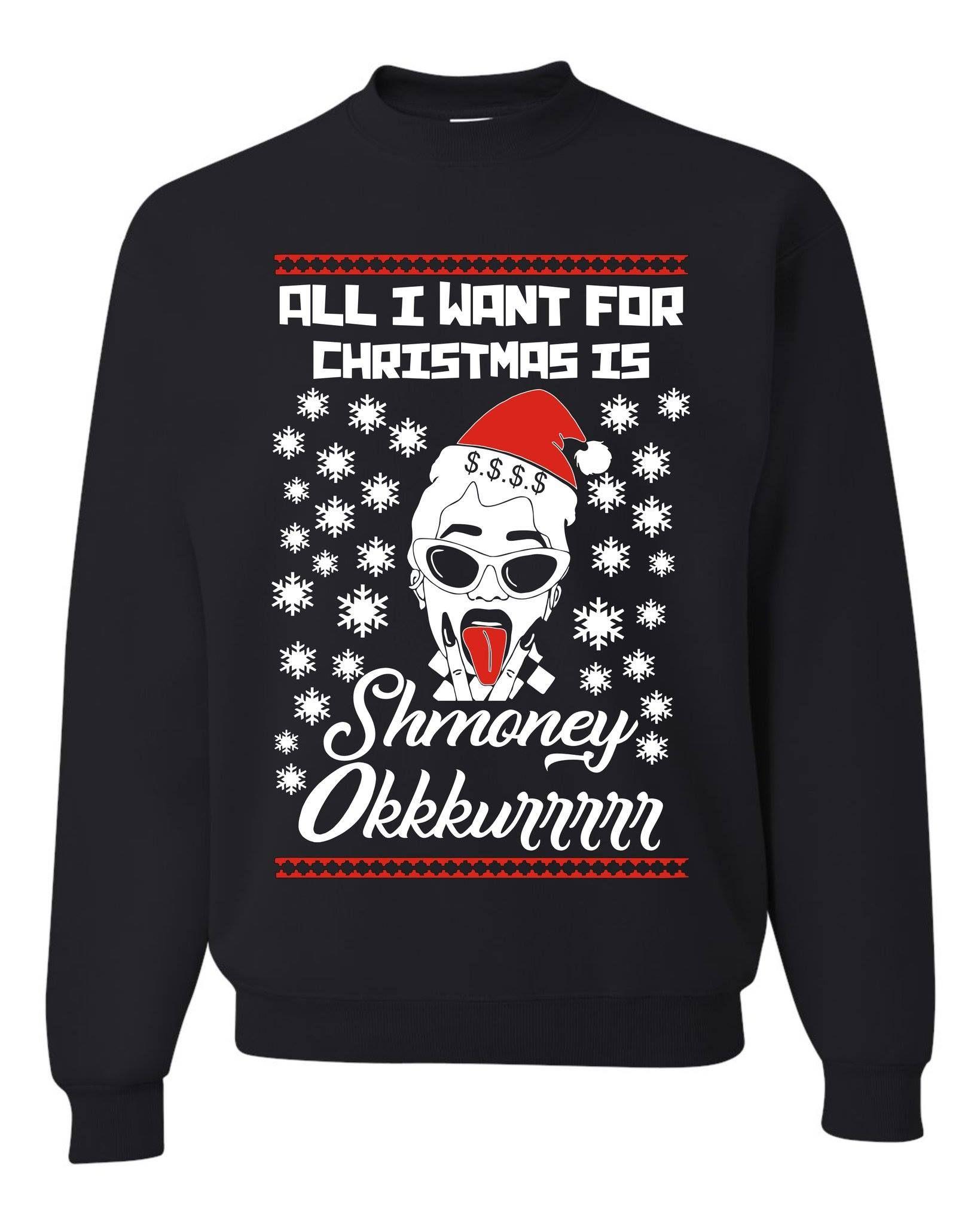 All I Want for Christmas are Diamonds Funny Xmas Unisex Sweatshirt tee