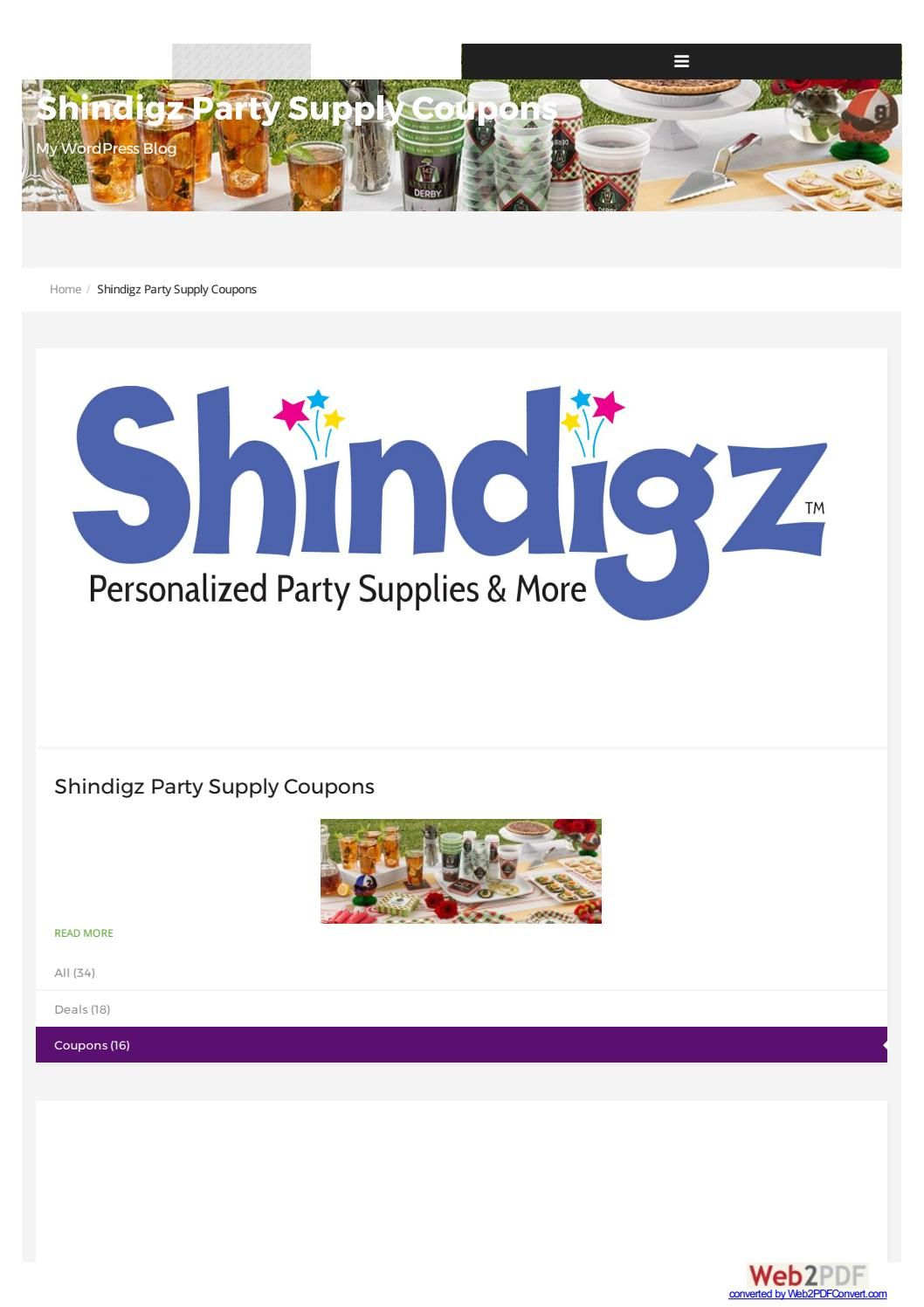 Shindigz Party Supply Coupons Anniversary Party Themes Shindigz Discount Party Supplies