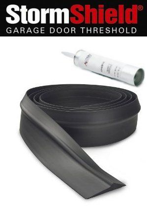 Storm Shield Garage Door Thresholds Kit The 9 Kit Comes With 1 Tube Adhesive And 9 2 Threshold Custom Garage Door Threshold Garage Door Seal Garage Doors