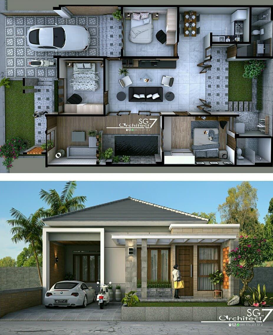 Arsitektur Desain Interior Di Instagram Rumah Tipe 110 220 Ukuran Tanah 11x20 M Architecture Homede Arsitektur Rumah Rumah Minimalis Desain Rumah Modern