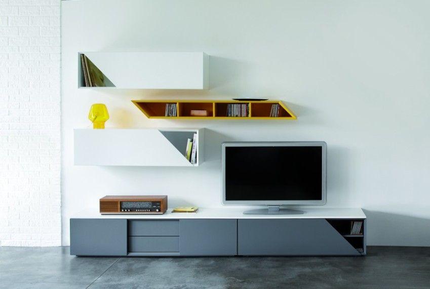 composition tv contemporain modulo monsieur meuble salon pinterest monsieur meuble. Black Bedroom Furniture Sets. Home Design Ideas