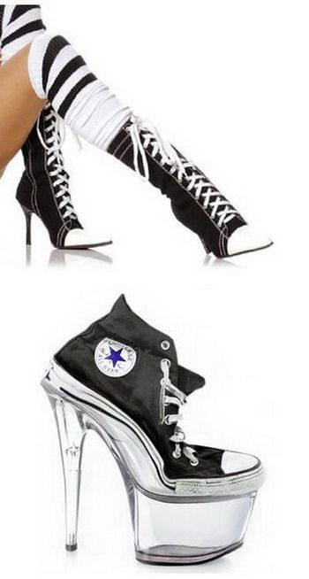 Converse high heels. I want the top ones as my wedding shoes