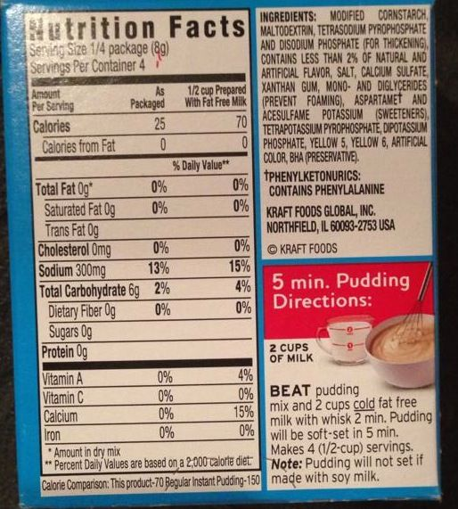 recipe: instant pudding mix directions [14]