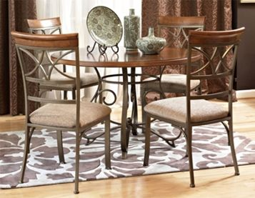 Hamilton Dining Group Brushed Faux Medium Cherry Wood Top Matte
