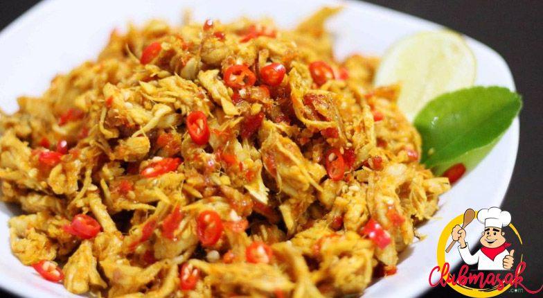 Resep Ayam Suwir Sederhana Gurih Dan Lezat Resep Ayam Suwir Resep Ayam Masakan Indonesia Resep