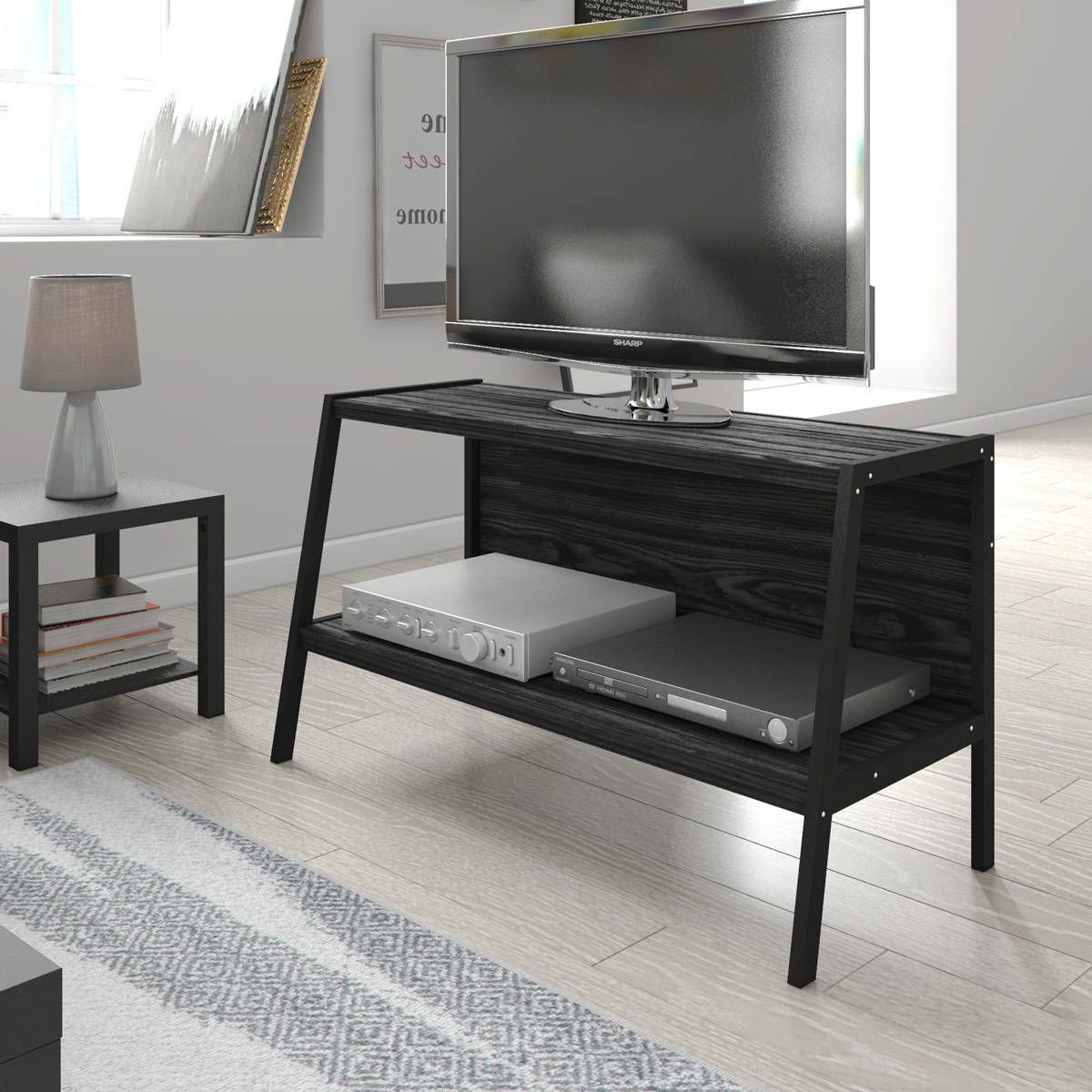 Porch u den wicker park potomac ladder tv stand black tv stands