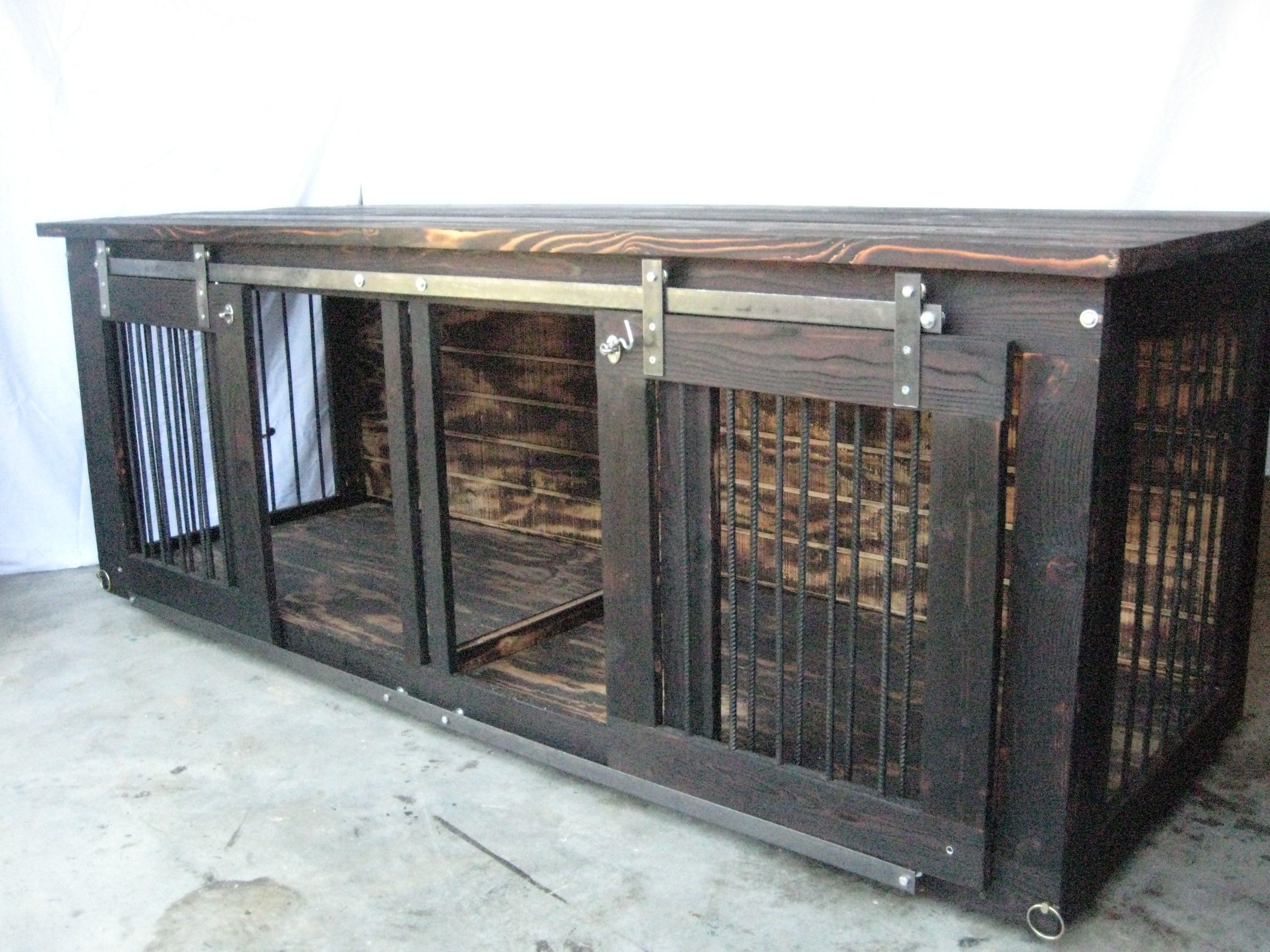 Pin By Maraea Meyer Mm S Interior De On Double Dog Kennel Diy Dog Crate Diy Dog Kennel Indoor Dog Kennel