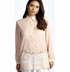 boohoo Eyelash Lace Trim Long Sleeve Shirt - blush Make your top a talking point with textures - think brocades, quilting and fluffy-feel. Jersey kinda gal? Shake it up with shapes. Crop tops get cutting edge in boxy, boyfriend fit shapes and shell to http://www.comparestoreprices.co.uk/womens-clothes/boohoo-eyelash-lace-trim-long-sleeve-shirt--blush.asp