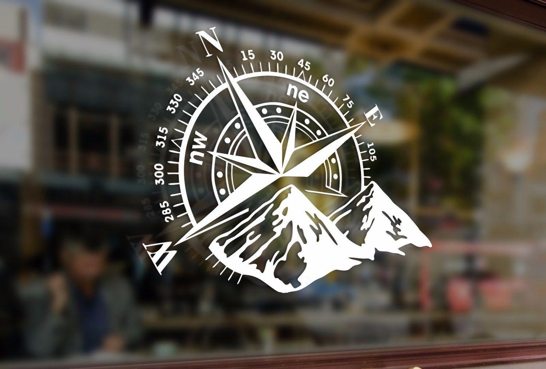 Compass rose navigate 4x4 offroad mount art vinyl stickers