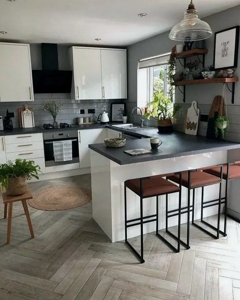 32 Exciting Small Modern Kitchen Design Ideas In 2020 Kitchen Design Small Small Modern Kitchens Modern Kitchen Design